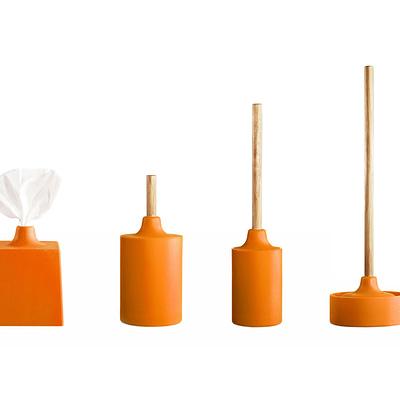 Kontextur Wc Line Bathroom Set Orange Gessato Design Store