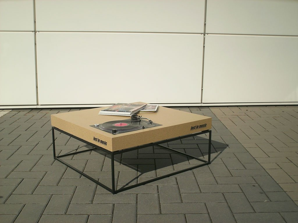 Lost In Music Record Player Coffee Table Gessato