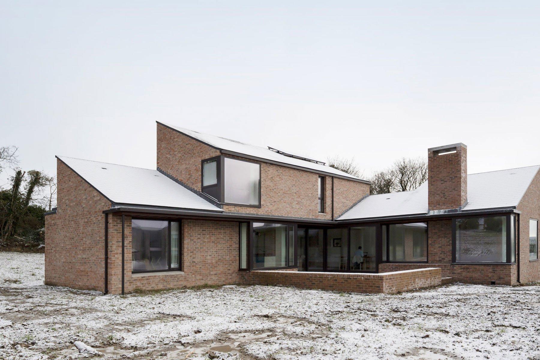 modern brick house images