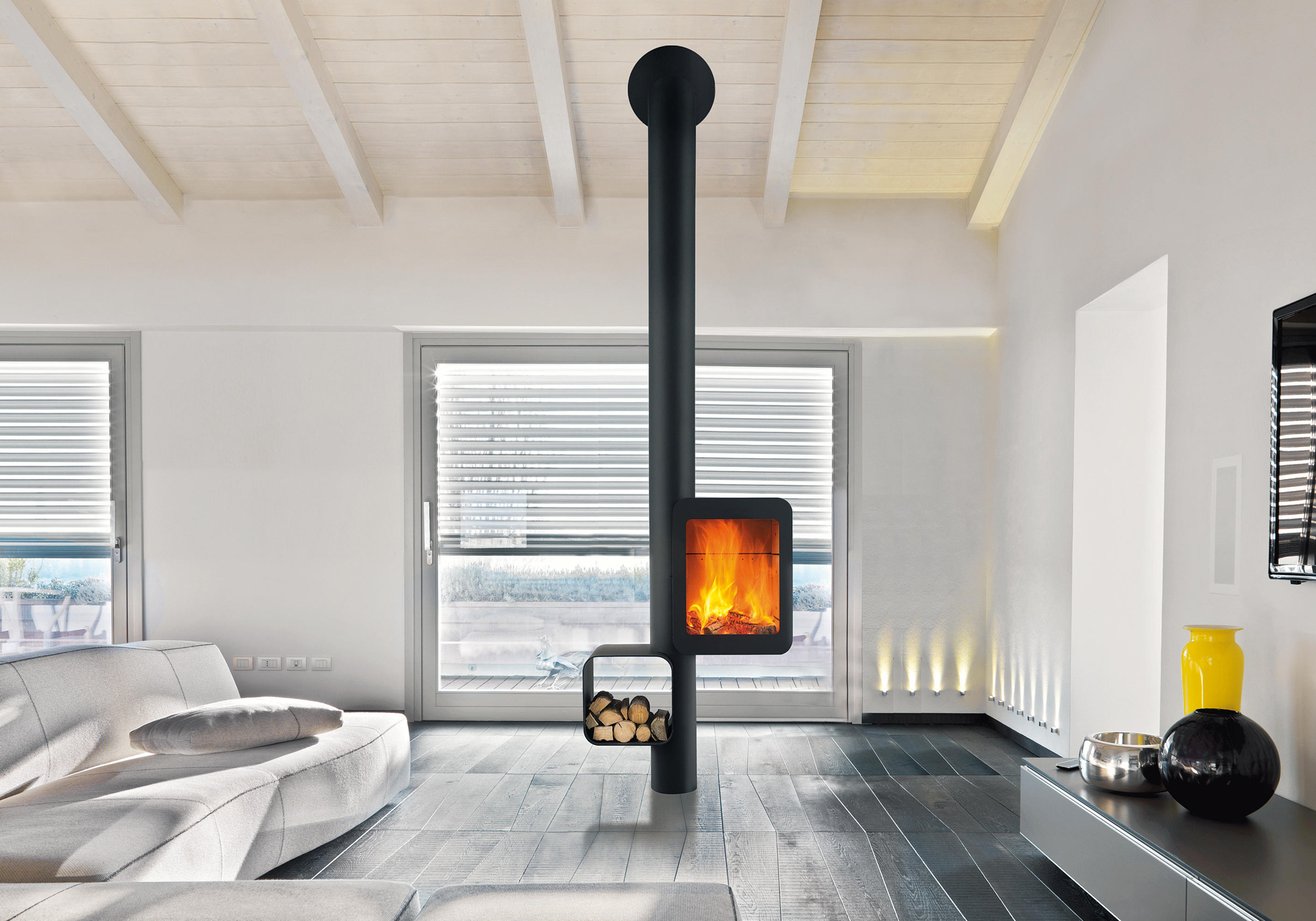 Modern Wood Burning Stove Designs For Cozy Homes Gessato
